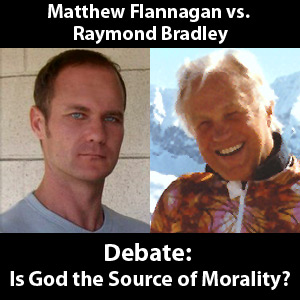 a debate into the topic of god and morality So long as one seriously debates the righteousness of a supposed god morality, one is exercising one's moral autonomy and showing that the own morality judgment is independent of god.